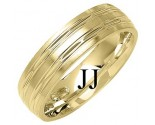 Yellow Gold Designer Wedding Band 6mm YG-1284