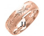 Rose Gold Designer Wedding Band 7mm RG-1285