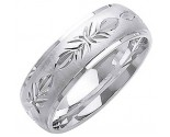White Gold Designer Wedding Band 7mm WG-1285