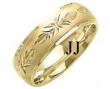 Yellow Gold Designer Wedding Band 7mm YG-1285