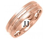 Rose Gold Designer Wedding Band 6mm RG-1286