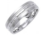 White Gold Designer Wedding Band 6mm WG-1286