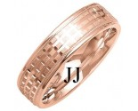 Rose Gold Designer Wedding Band 6mm RG-1287