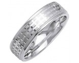 White Gold Designer Wedding Band 6mm WG-1287
