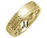 Yellow Gold Designer Wedding Band 6mm YG-1287