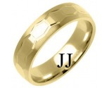 Yellow Gold Designer Wedding Band 6mm YG-1288
