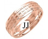 Rose Gold Designer Wedding Band 7mm RG-1289