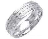 White Gold Designer Wedding Band 7mm WG-1289