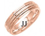 Rose Gold Designer Wedding Band 6mm RG-1290