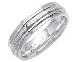 White Gold Designer Wedding Band 6mm WG-1290