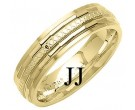 Yellow Gold Designer Wedding Band 6mm YG-1290