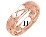Rose Gold Designer Wedding Band 6mm RG-1291