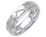 White Gold Designer Wedding Band 6mm WG-1291