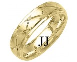 Yellow Gold Designer Wedding Band 6mm YG-1291
