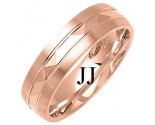 Rose Gold Designer Wedding Band 6mm RG-1292