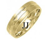 Yellow Gold Designer Wedding Band 6mm YG-1292