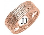 Rose Gold Designer Wedding Band 6mm RG-1293