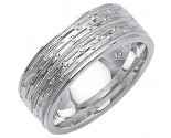 White Gold Designer Wedding Band 6mm WG-1293