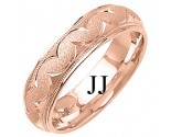 Rose Gold Designer Wedding Band 6mm RG-1294