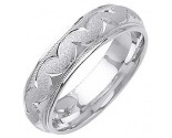 White Gold Designer Wedding Band 6mm WG-1294