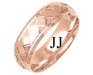 Rose Gold Designer Wedding Band 7mm RG-1295