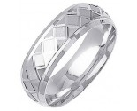 White Gold Designer Wedding Band 7mm WG-1295