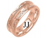 Rose Gold Designer Wedding Band 7mm RG-1296