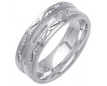 White Gold Designer Wedding Band 7mm WG-1296