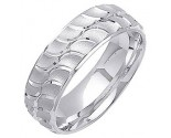 White Gold Designer Wedding Band 7mm WG-1298