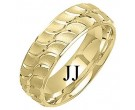 Yellow Gold Designer Wedding Band 7mm YG-1298