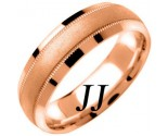Rose Gold Milgrain Wedding Band 6.5mm RG-1351