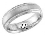 White Gold Sandblasted Wedding Band 6.5mm WG-1352