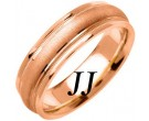 Rose Gold Sandblasted Wedding Band 6.5mm RG-1353
