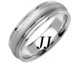 White Gold Sandblasted Wedding Band 6.5mm WG-1353