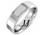 White Gold Polished Wedding Band 6.5mm WG-1356