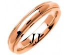 Rose Gold Polished Wedding Band 4.5mm RG-1357