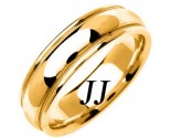 Yellow Gold Polished Wedding Band 6.5mm YG-1358