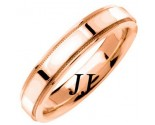 Rose Gold Flat Polished Wedding Band 4.5mm RG-1359
