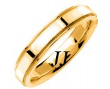 Yellow Gold Flat Polished Wedding Band 4.5mm YG-1359