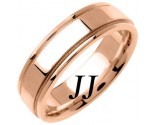 Rose Gold Flat Polished Wedding Band 6.5mm RG-1360