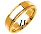 Yellow Gold Flat Polished Wedding Band 6.5mm YG-1360