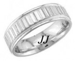White Gold Ribbon Effect Wedding Band 6.5mm WG-1361
