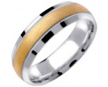 Two Tone Gold Wedding Band 6.5mm TT-1363