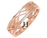 Rose Gold Designer Wedding Band 6mm RG-1370