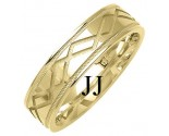 Yellow Gold Designer Wedding Band 6mm YG-1370