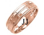 Rose Gold Designer Wedding Band 7mm RG-1371