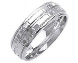 White Gold Designer Wedding Band 7mm WG-1371