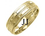 Yellow Gold Designer Wedding Band 7mm YG-1371