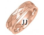 Rose Gold Designer Wedding Band 6mm RG-1372