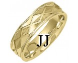 Yellow Gold Designer Wedding Band 6mm YG-1372